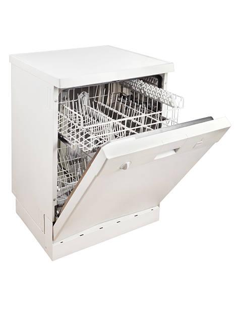 lavastoviglie clipping path (fare clic per ulteriori informazioni) - bacinella metallica foto e immagini stock