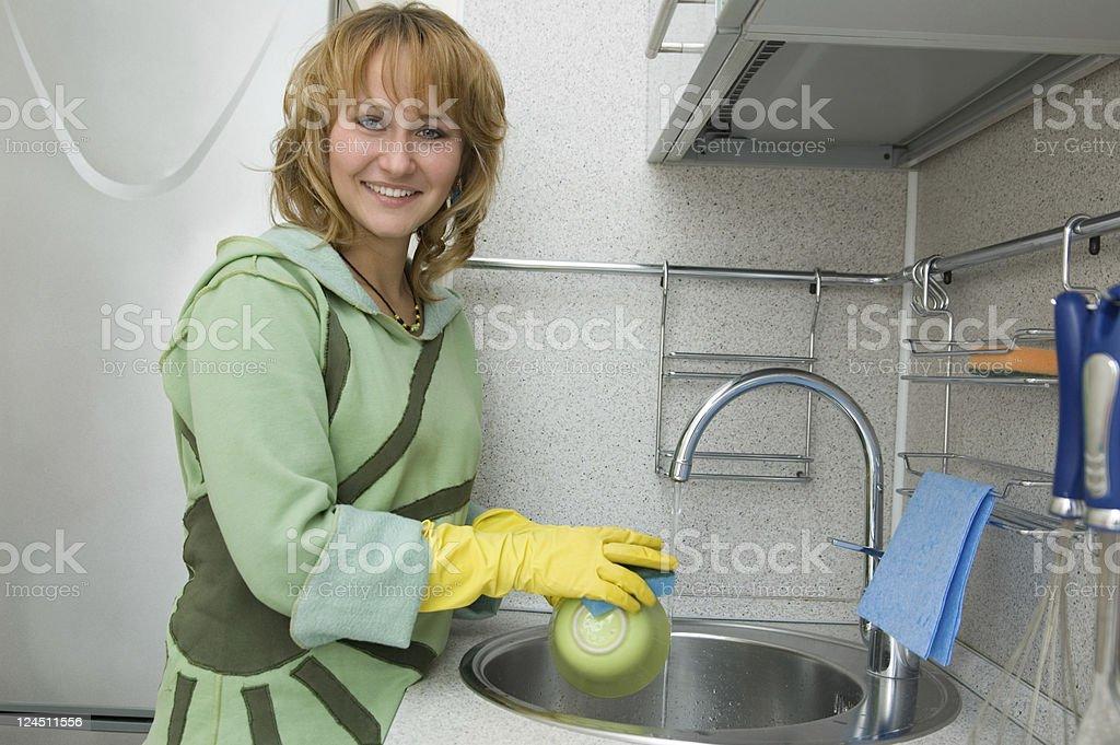 Dishwashing royalty-free stock photo
