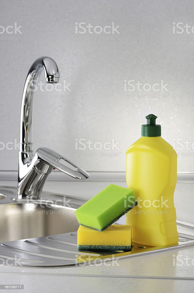 Dishwashing royalty-free stock photo