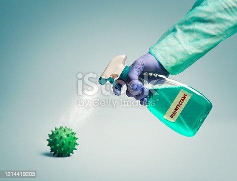 Using Disinfectant to eliminate bacteria or viruses like coronavirus