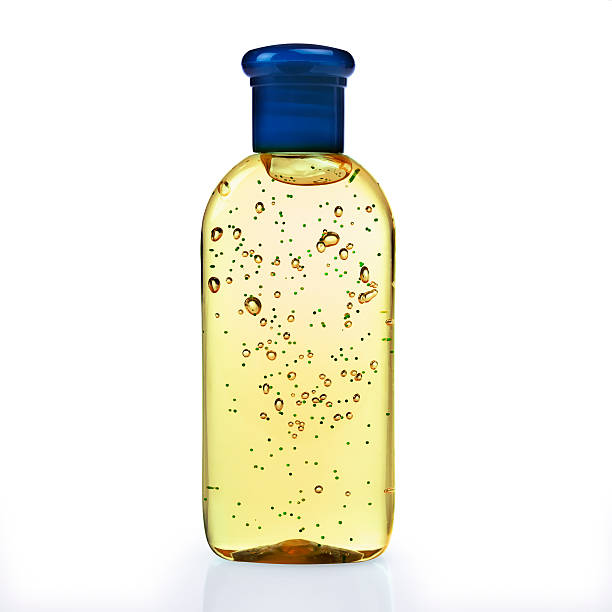 Disinfectant gel Yellow hand sanitizer in a bottle human parainfluenza virus stock pictures, royalty-free photos & images