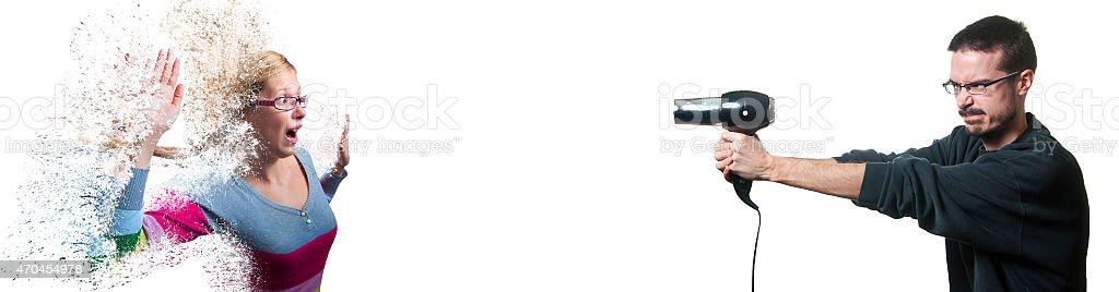 Disintegration stock photo