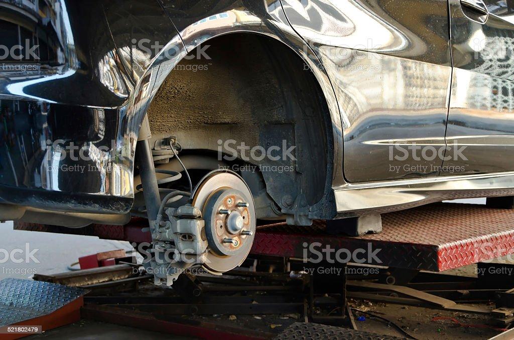Disk brake assembly stock photo