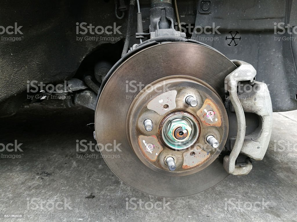 disk brake without wheel stock photo