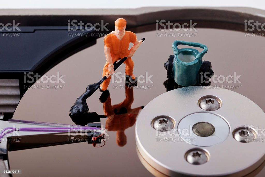 Disk Cleanup and Repair Concept stock photo