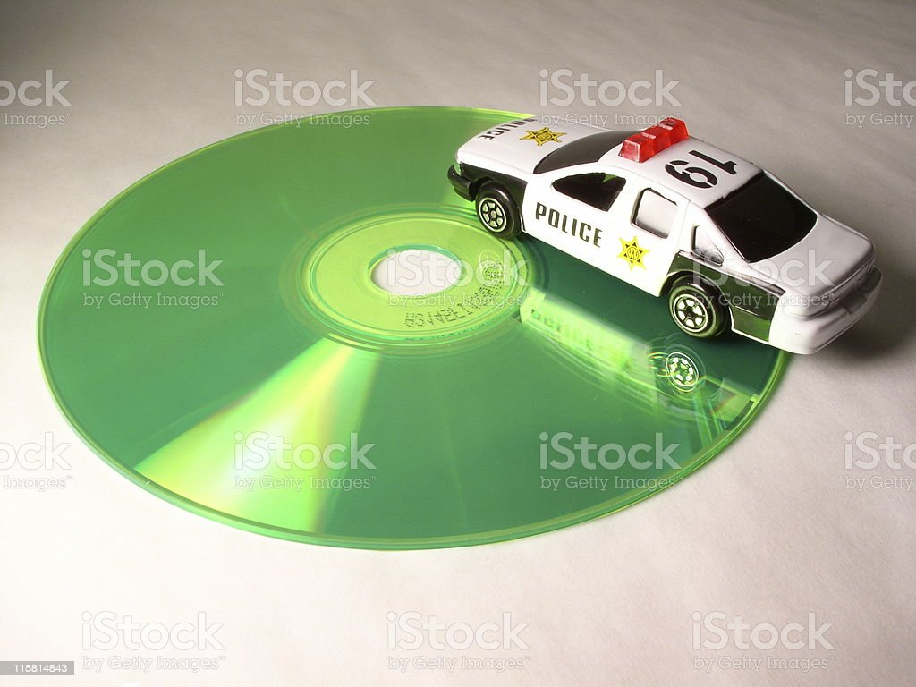 Disk police! royalty-free stock photo