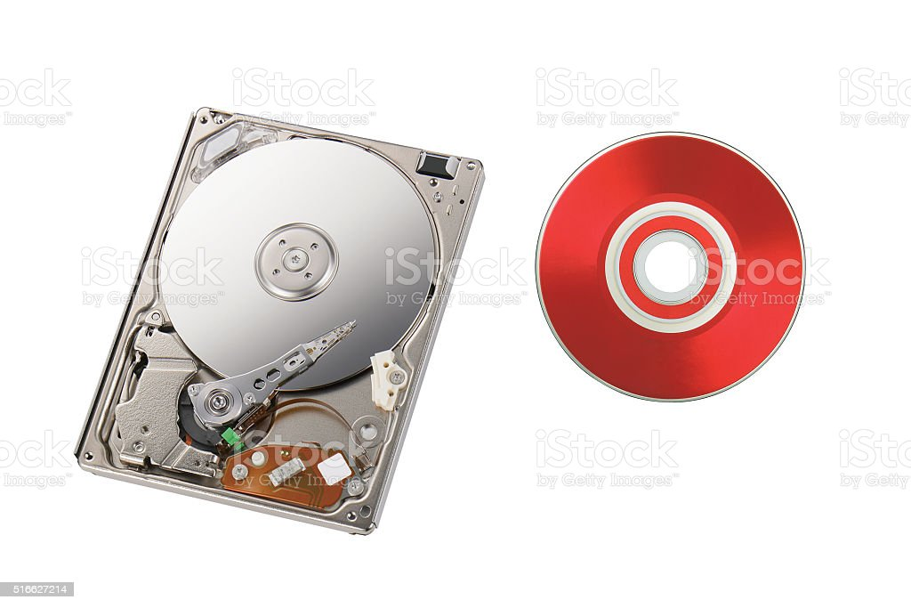 Disk reader stock photo