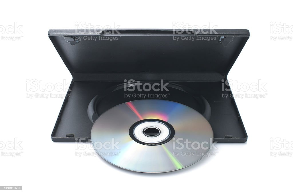 DVD disk with case royalty-free stock photo
