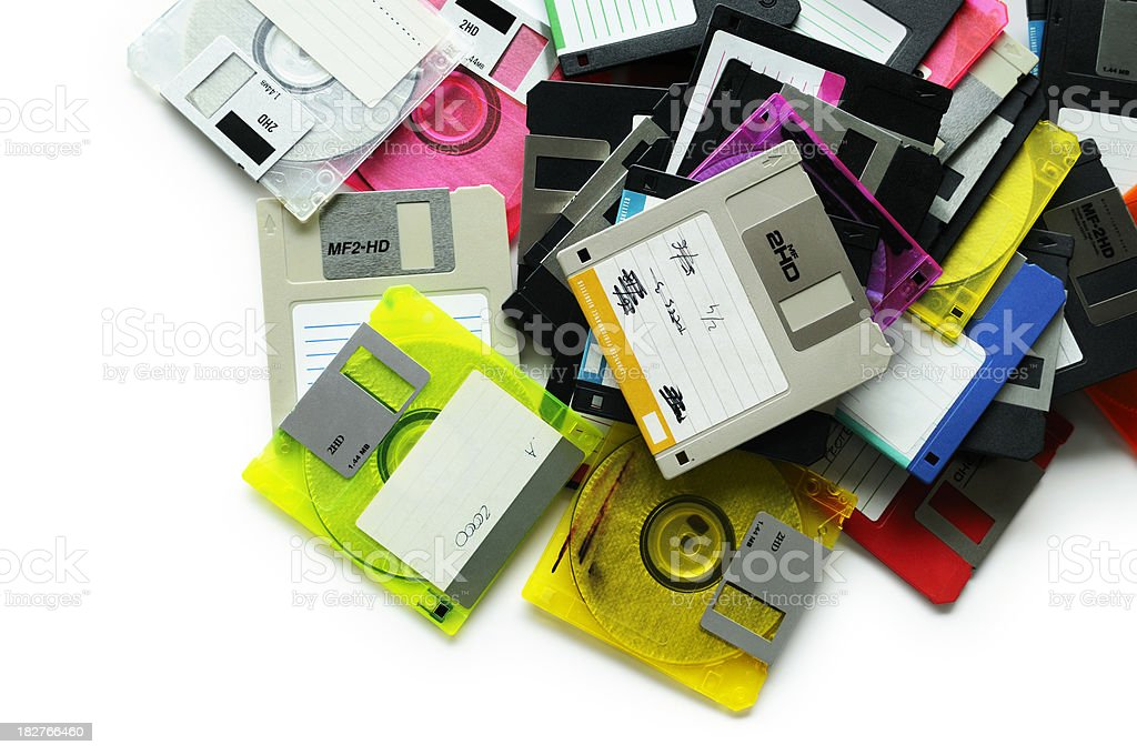 Diskettes royalty-free stock photo