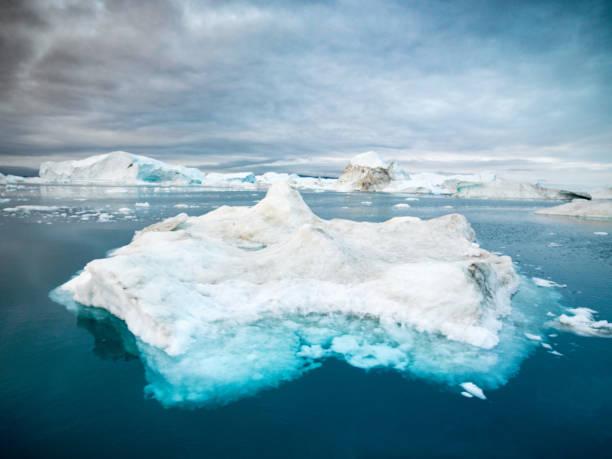 Disko Bay Arctic Icebergs Greenland Ilulissat stock photo