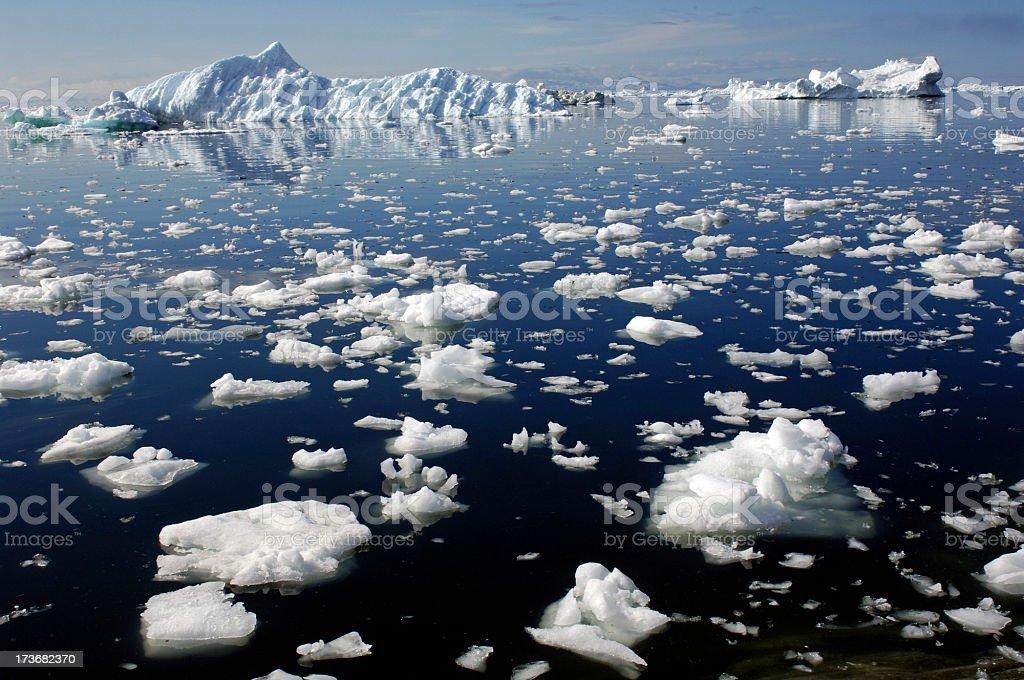 Disko Bay Greenland stock photo
