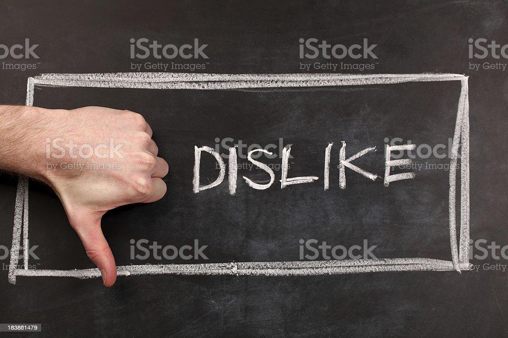 Dislike royalty-free stock photo