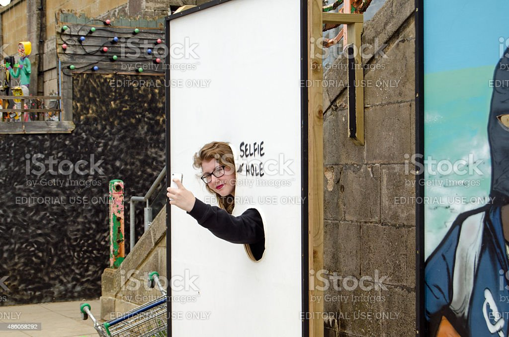 Dismaland Selfie cut out stock photo