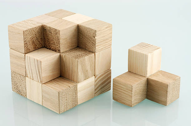 Dismantled cube stock photo