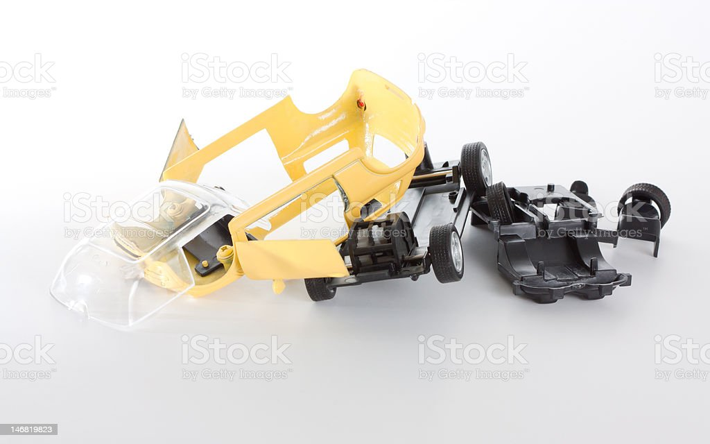 Dismantled toy car stock photo