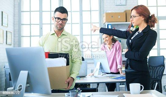 1181817161 istock photo Dismissed employee 656936772