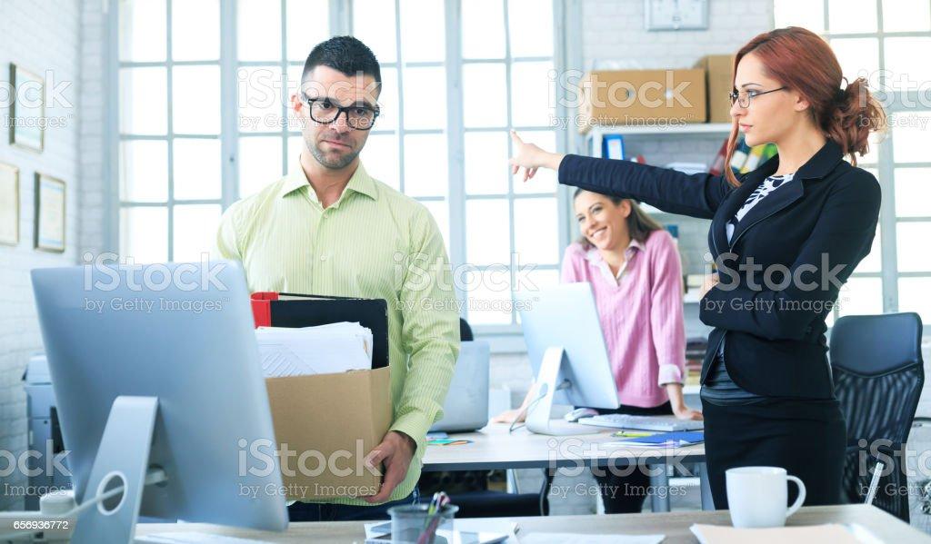 Dismissed employee stock photo