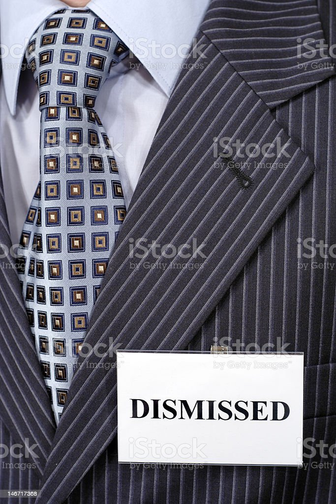 Dismissed person. stock photo
