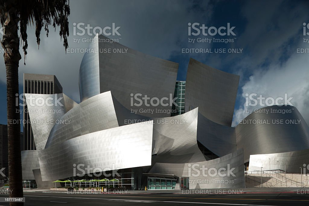 Disney Concert Hall in L.A. by Frank Gehry. royalty-free stock photo