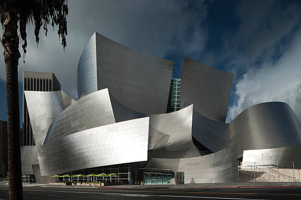 Disney Concert Hall in L.A. by Frank Gehry. stock photo