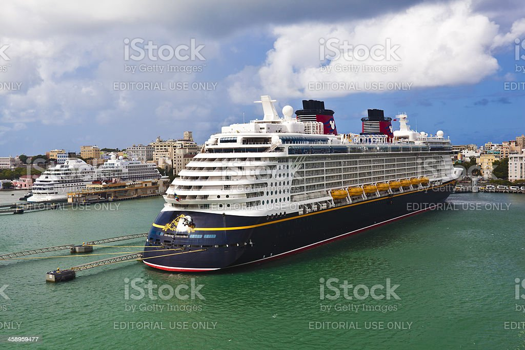 Disney Fantasy Cruise Ship stock photo