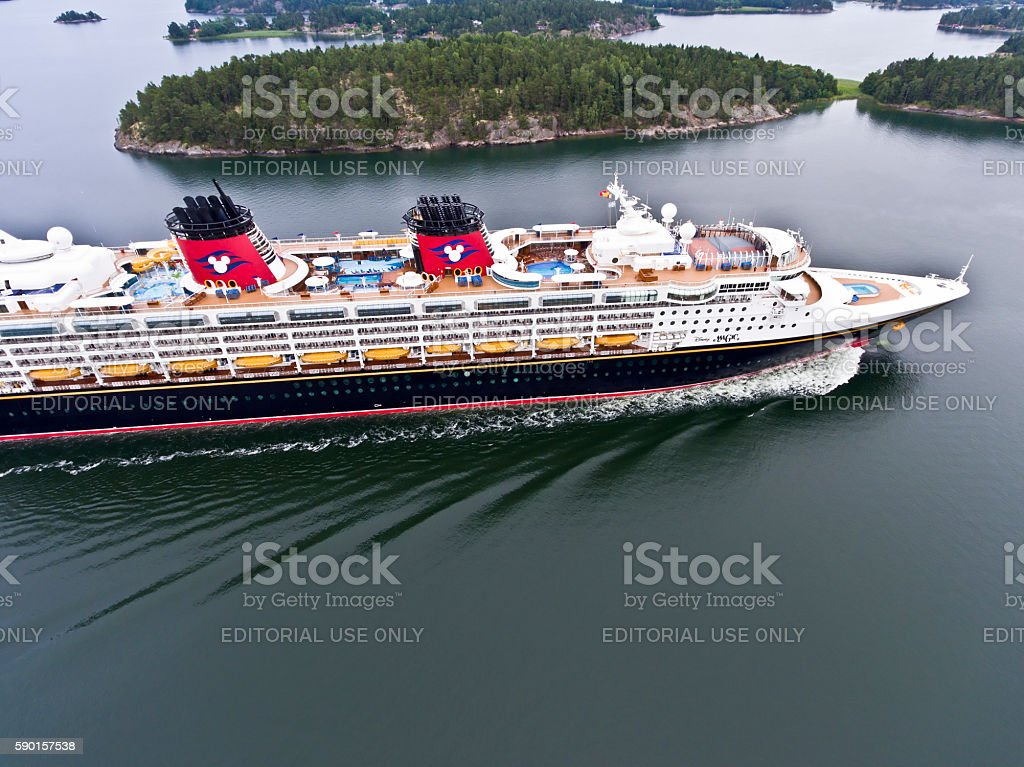Disney Magic Cruise Ship Stock Photo More Pictures Of Aerial - Cruise ship magic