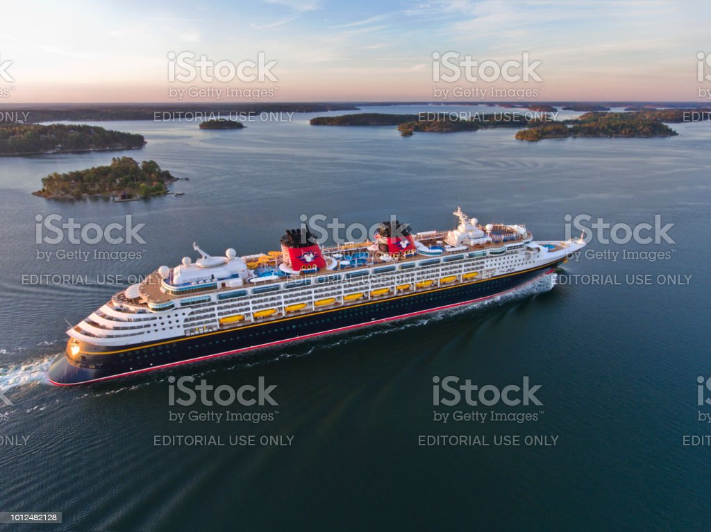 Disney Magic Cruiser Ship in the Stockholm Swedish archipelago stock photo