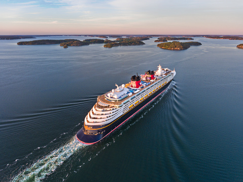 Disney Magic Cruiser Ship in the Stockholm Swedish archipelago
