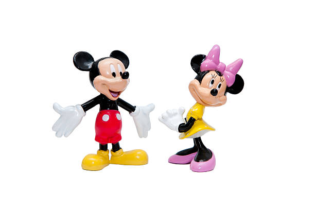Disney Mickey and Minnie mouse stock photo
