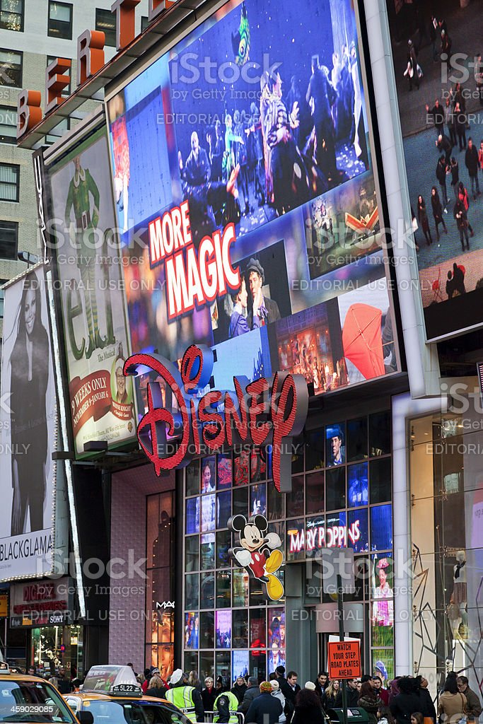 Disney Store Times Square stock photo