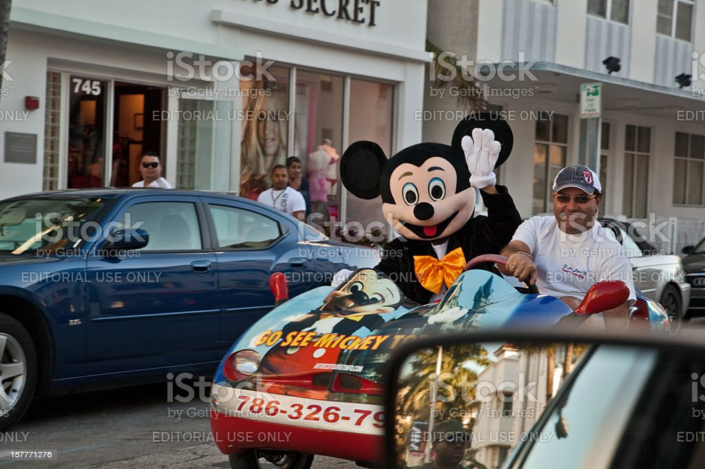 Disney World advertisement in Miami Beach stock photo