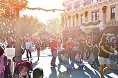 California America-December 9,2018\nPeople with family and tourist visited and fun at Disneyland Amusement park in California ,United stated of America on December 9,2018