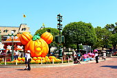 Hong Kong, China - 5 October 2018: Disneyland Resort decorated for Halloween celebration