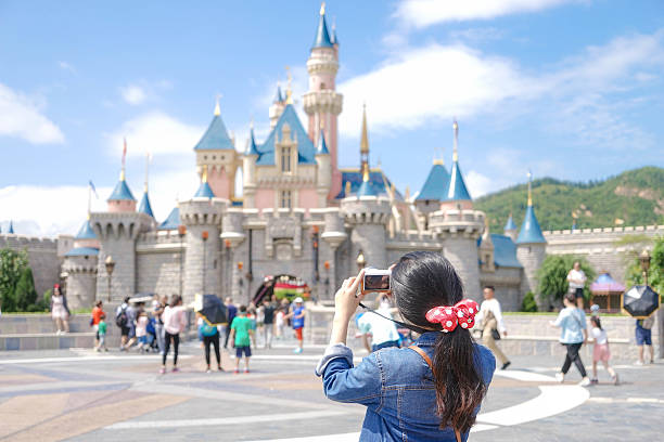 disneyland - castle stock photos and pictures