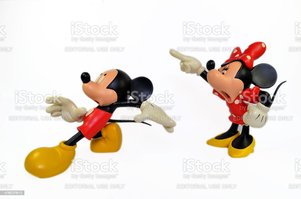 Disney's Mickey & Minnie Mouse. stock photo