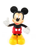 Trowbridge, Wiltshire, UK - May 07, 2014: Photograph of a Mickey Mouse plastic toy or figurine.