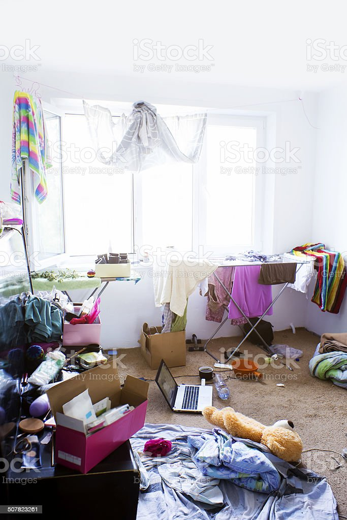 disoder in the room stock photo