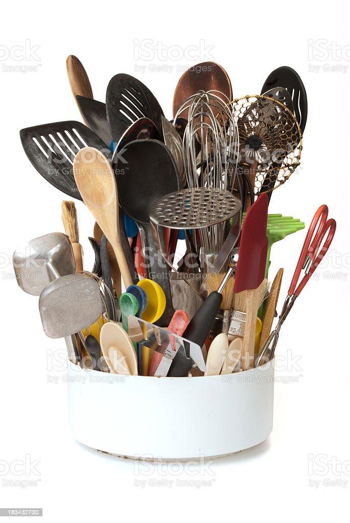 Disorganized Kitchen Utensil Caddy Stock Photo - Download ...