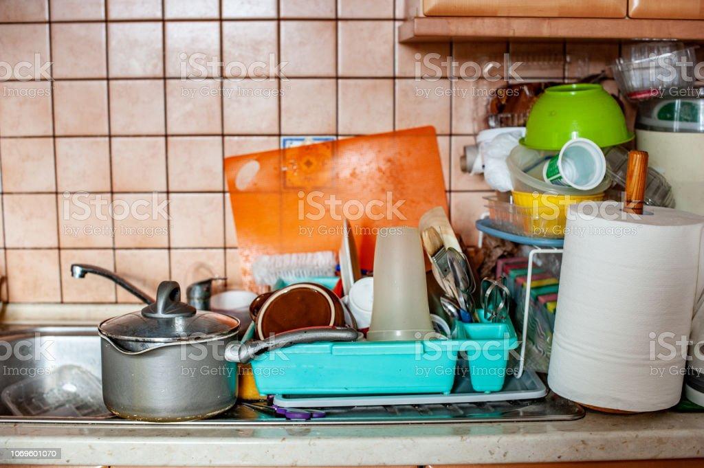 Disorganized, Messy Kitchen