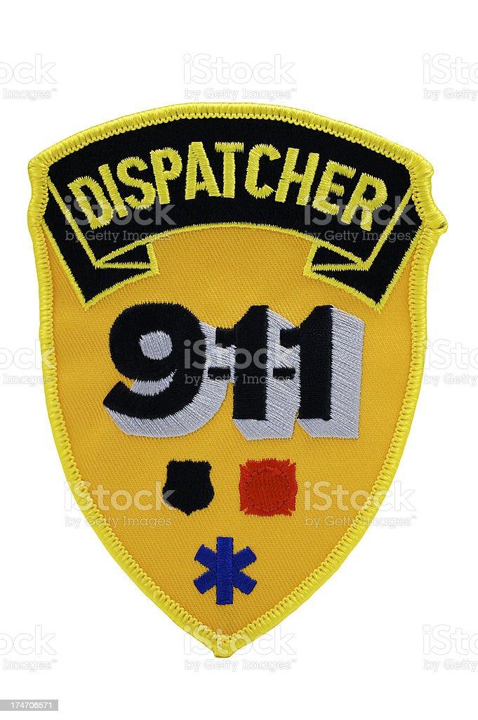 Dispatcher 911 Patch stock photo