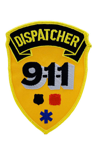 Dispatcher 911 Patch stock photo
