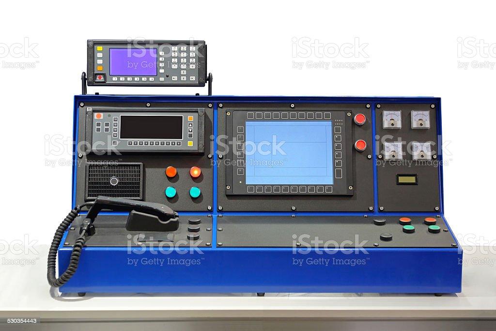 Dispatcher desk console stock photo
