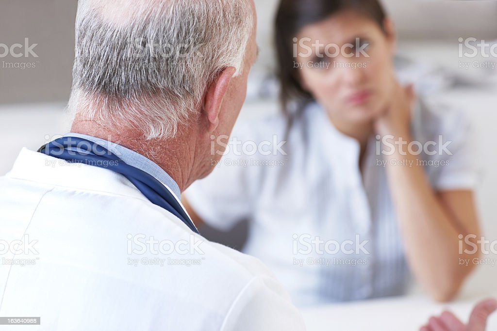 Dispensing quality advice royalty-free stock photo