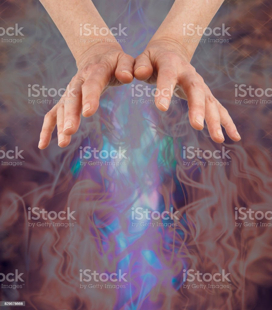 Dispersing darkness and bringing the light in stock photo