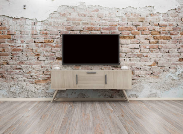 tv display 3d render - flat screen stock photos and pictures