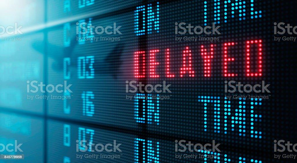 LED Display - Airport flight status board stock photo