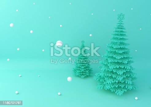 istock Display background for product presentation, Christmas tree 1180701761