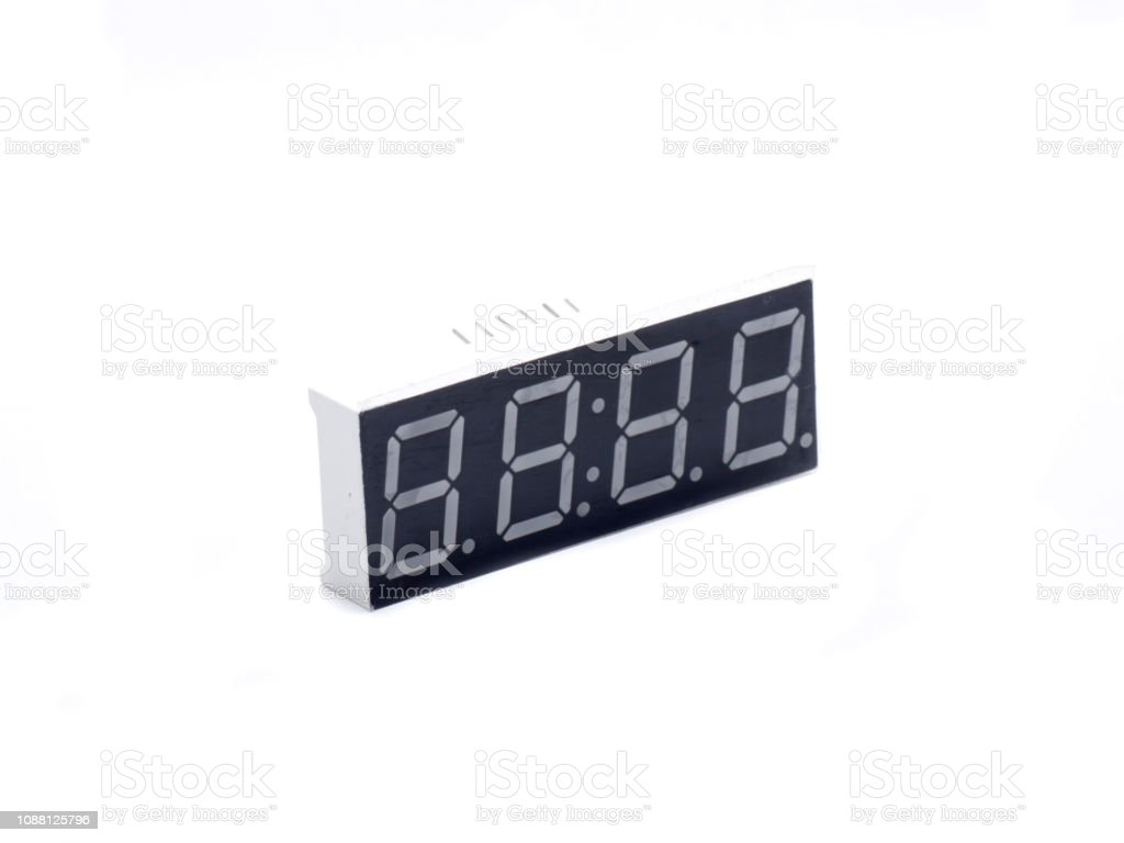 display four numbers stock photo