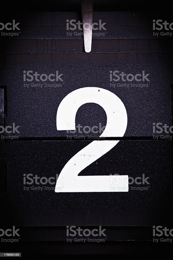 Display number 2 royalty-free stock photo
