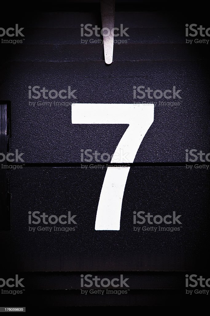 Display number 7 royalty-free stock photo